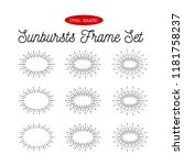 sunbursts frame set. oval shape.... | Shutterstock . vector #1181758237