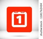 calendar vector icon | Shutterstock .eps vector #1181762434