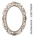 Oval Ornate Frame Isolated On...