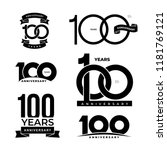 set of 100 years anniversary... | Shutterstock .eps vector #1181769121