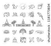 sri lanka vacation icons set.... | Shutterstock .eps vector #1181773834