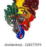 oil paint isolated multicolored ... | Shutterstock . vector #118177474