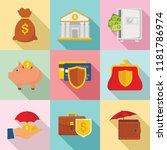 deposit banner set. flat... | Shutterstock .eps vector #1181786974