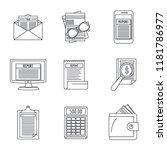 expense report transaction icon ... | Shutterstock .eps vector #1181786977