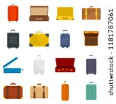 suitcase travel luggage bag...   Shutterstock .eps vector #1181787061