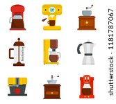 coffee maker pot espresso cafe... | Shutterstock .eps vector #1181787067