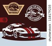 sports car vector. sports car... | Shutterstock .eps vector #118179235