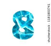 ice alphabet on white...   Shutterstock . vector #1181803741
