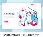 modern flat design isometric... | Shutterstock .eps vector #1181806744