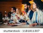 a group of sommeliers tasting... | Shutterstock . vector #1181811307