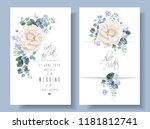 vector vintage wedding... | Shutterstock .eps vector #1181812741