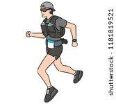 vector of trail runner | Shutterstock .eps vector #1181819521