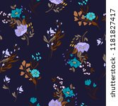 seamless floral ditsy pattern... | Shutterstock .eps vector #1181827417