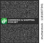 shopping vector icon set | Shutterstock .eps vector #1181837341