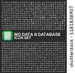 big data and database vector... | Shutterstock .eps vector #1181838907