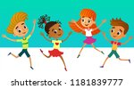 isolated collection of happy... | Shutterstock .eps vector #1181839777