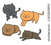 vector set of cats | Shutterstock .eps vector #1181839891