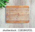 new rectangular wooden cutting... | Shutterstock . vector #1181841931