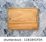 new rectangular wooden cutting... | Shutterstock . vector #1181841934