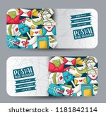 postal service horizontal...   Shutterstock .eps vector #1181842114