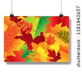 autumn banner isolated with... | Shutterstock .eps vector #1181842657