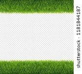 green grass borders transparent ... | Shutterstock .eps vector #1181844187