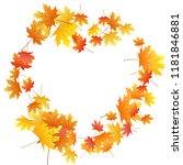 maple leaves vector background  ... | Shutterstock .eps vector #1181846881