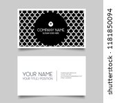 black creative business card... | Shutterstock .eps vector #1181850094