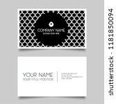 black creative business card... | Shutterstock .eps vector #1181850094