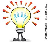 illustration of mascot lighted...   Shutterstock .eps vector #1181857567