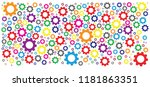 color cogwheel gear mechanism... | Shutterstock .eps vector #1181863351
