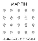 map pin related vector icon set.... | Shutterstock .eps vector #1181863444
