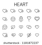 heart related vector icon set.... | Shutterstock .eps vector #1181872237