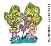 grated happy children with...   Shutterstock .eps vector #1181875951