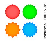 set colorful  labels on white... | Shutterstock .eps vector #1181877604