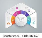 infographics design vector and... | Shutterstock .eps vector #1181882167