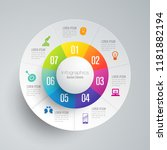 infographics design vector and... | Shutterstock .eps vector #1181882194
