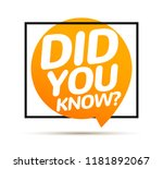 did you know text in speech... | Shutterstock .eps vector #1181892067