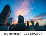 pink and blue perfect sunset in ... | Shutterstock . vector #1181892877
