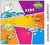 set of speech bubbles comic...   Shutterstock .eps vector #1181895727