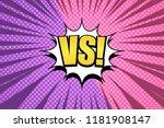 comic duel dynamic explosive... | Shutterstock .eps vector #1181908147