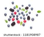 top view of set of berries...   Shutterstock . vector #1181908987