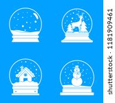 snow globe ball christmas... | Shutterstock .eps vector #1181909461