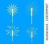 sparkler fireworks bonfire... | Shutterstock .eps vector #1181909467