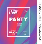 night party banner template for ... | Shutterstock .eps vector #1181909551