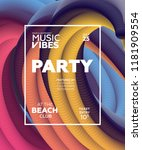 night party banner template for ...   Shutterstock .eps vector #1181909554