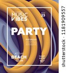 night party banner template for ...   Shutterstock .eps vector #1181909557