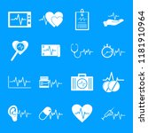 heart pulse beat icons set.... | Shutterstock .eps vector #1181910964