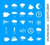 weather icons set. simple... | Shutterstock .eps vector #1181911804