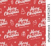 merry christmas and happy new... | Shutterstock .eps vector #1181912671